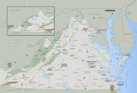 Map Of Virginia by Large Detailed Map Of Virginia State With National Parks Highways