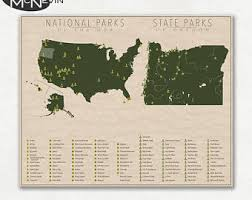 map of oregon state parks oregon state map etsy