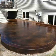 Outdoor Deck And Patio Ideas Decor U0026 Tips Staining Concrete For Concrete Patio Ideas With