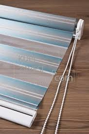 turquoise lines and gloss zebra curtain roller blind