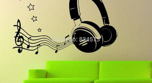 Music Note Decor Mural Music Studio Decor Awesome Music Wall Murals Old Speakers