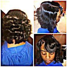 natural sew in bob cut u0026 curl