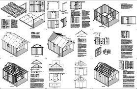 porch blueprints 16 x 12 cabin shed covered porch plans plueprint p61612 free