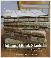 diy how to a make pottery barn style unbound book stack lost