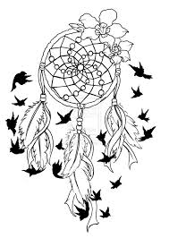 coloring pages tattoos animal coloring pages dream catchers dream catcher birds of a