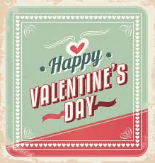 retro valentines retro valentines day card vector stock vector illustration of