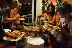 pot luck thanksgiving dinner picture of bhakti shack