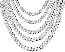 chain necklace men images Wk 100 925 sterling silver mens silver chain necklace men hip hop jpeg