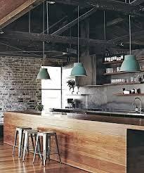 cuisine bois acier cuisine au design industriel mélange de bois et acier