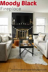 black painted fireplace popular home design excellent on black