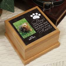 wooden pet urns personalized pet cremation urn dog photo memorial wooden pawprint