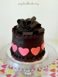 valentine u0027s day chocolate cake with chocolate bow say it with cake