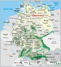 Italy Physical Map by Physical Map Of Germany Full Size