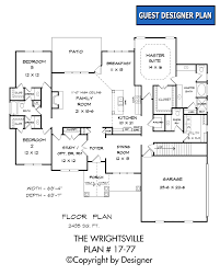 First Floor Bedroom House Plans Wrightsville House Plan House Plans By Garrell Associates Inc