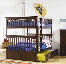 Bunk Bed Trundle Ikea Awesome Kid Boy Bedroom Decoration Using Solid Mahogany Wood