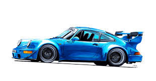 rauh welt porsche green porsche 964 rauh welt drawing scanned