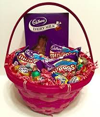 filled easter baskets cadbury easter basket filled with creme eggs mini