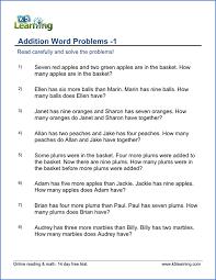 third grade math word problems worksheets worksheets