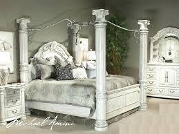 king poster bedroom set black king canopy bed canalcafe co