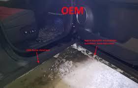 lexus ls in snow poor door seal in nx causing snow to creep in between door and