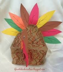 paper bag turkey craft for on lakeshore drive