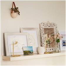 shabby chic coat hooks with shelf view in gallery living room