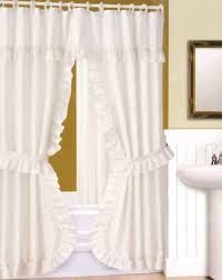 Checkered Curtains by Accessories Great White Bathroom Decoration Using Ruffle White