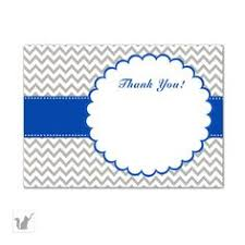 baby shower thank you cards note blue black cow by pinkthecat