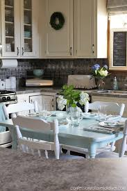 How To Paint A Laminate Kitchen Table Confessions Of A Serial Do - Laminate kitchen tables