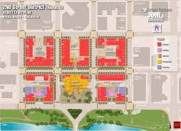 City Of Austin Map by Site Plan Second Street District In Austin Texas