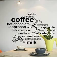 aliexpress com buy creative english coffee quotes wall sticker