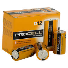 procell duracell 1 5v d size box of 12
