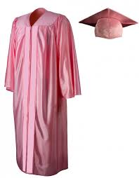 pink cap and gown shiny pink cap gown graduationsource