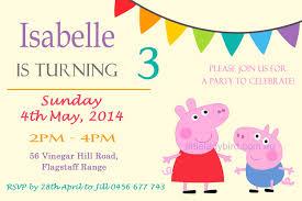 peppa pig birthday invitations iidaemilia com