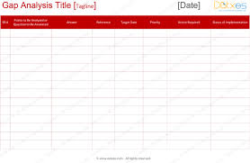 Gap Analysis Template Excel Gap Analysis Template For Word And Excel Dotxes