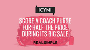 score a coach purse for half the price during its big sale real