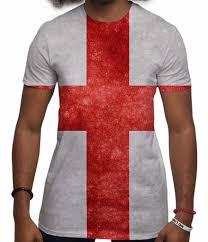 Englands Flag Men U0027s St George U0027s Cross All Over Print England Flag T Shirt