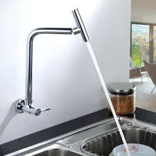 wall mount faucet kitchen kitchen tap brushed nickel orb wall mounted pot filler faucet with