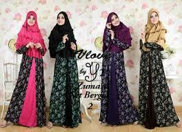 Baju Muslim Dewasa Ukuran Kecil baju gamis syari set bergo zumara y227 yers2