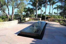 modern water feature santa barbara modern outdoor fountains landscape transitional with