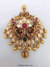 antique necklace pendants images Gold antique peacock pendant south india jewels jpg