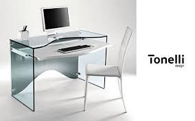bureau informatique verre trempé meuble ordinateur bureaux et tables decofinder