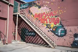 street art found in ithaca the ithacan this brightly colored lettering is one of many murals hidden on the back of the international