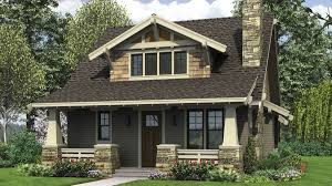craftsman bungalow with open floor plan and loft plan 21145 the