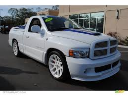 bright white 2005 dodge ram 1500 srt 10 regular cab exterior photo