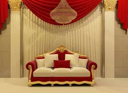 5x7ft indoor red curtain sofa couch stage frame custom photo