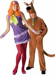 Scooby Doo Gang Halloween Costumes Couples Scooby Doo U0026 Daphne Fancy Dress Costumes Fancy Limited