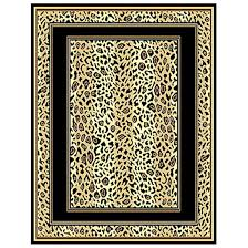 leopard print border area rug 226523 rugs at sportsman u0027s guide