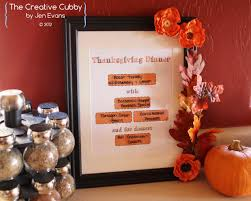 the creative cubby thanksgiving menu planning printables