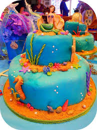 mermaid under the sea sweet 16 birthday cake cakecentral com